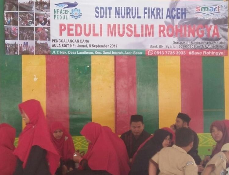 Penggalangan Dana untuk Rohingya/Foto Najmi/Nusantaranews