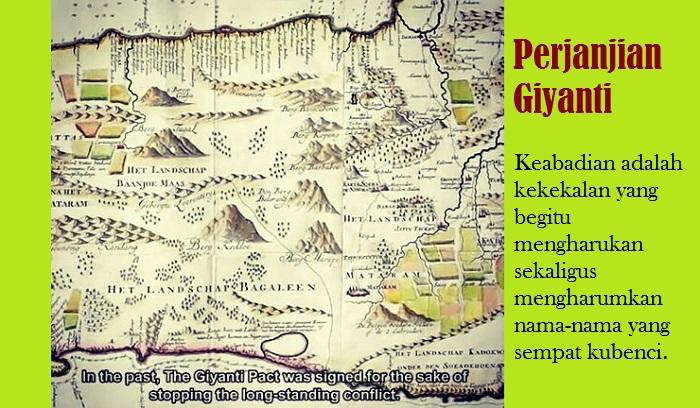 Perjanjian Giyanti. Ilustrasi: NusantaraNews.co