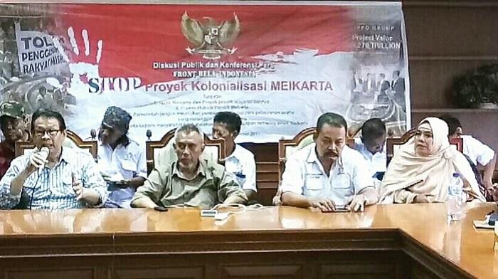"""Konferensi Pers, dalam Diskusi bertema """"Gerakan Tolak Meikarta"""". Foto: Dok. Istimewa"""