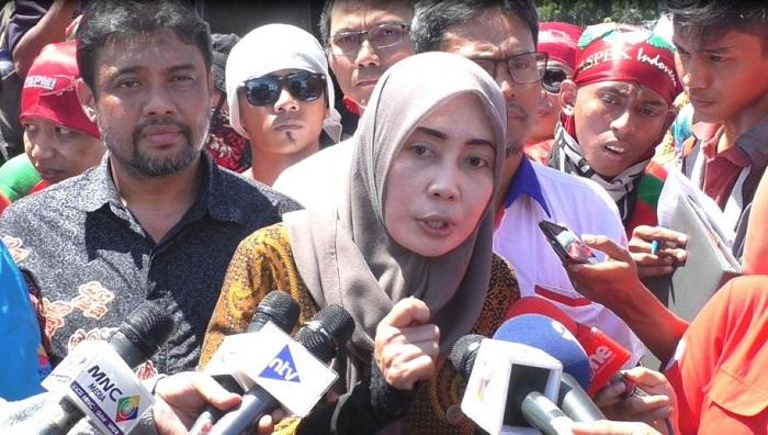 Presiden ASPEK Indonesia Mirah Sumirat. Foto: Istimewa