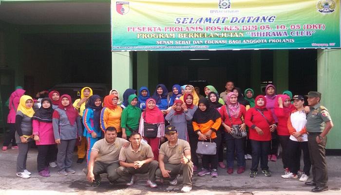 Kegiatan Prolanis yang diselenggarakan Kodim Tulungagung bekerjasama dengan BPJS Kesehatan. (Foto: Miss Dim/NusantaraNews/Istimewa)