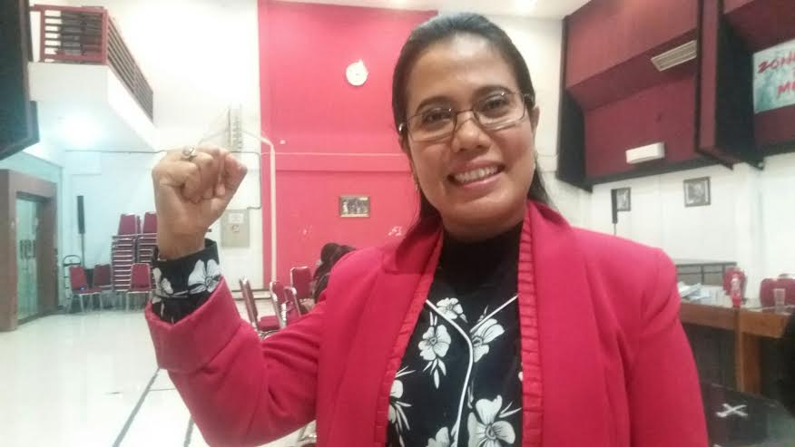 Sekretaris PDIP Jatim, Sri Untari/Foto beritajatim/Nusantaranews
