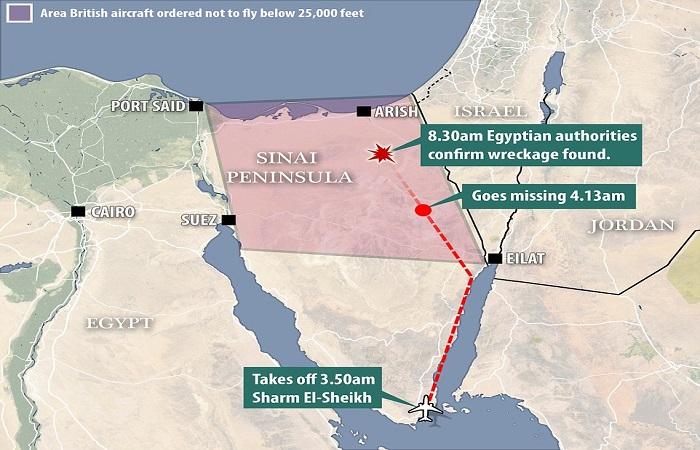 Semenanjung Sinai (Sinai Penisula). (Foto: Istimewa/Daily Mail/NusantaraNews)
