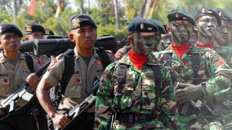 Tentara Nasional Indonesia (TNI) dan Kepolisian Republik Indonesia (Polri). (Foto: Ilustrasi/NusantaraNews)