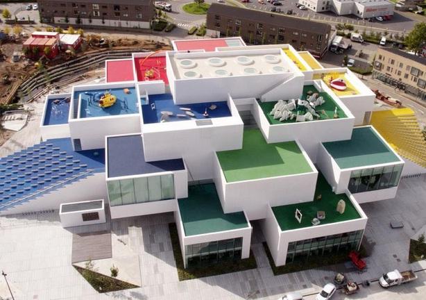 Area bangunan Lego House Denmark (Foto: The Verge)