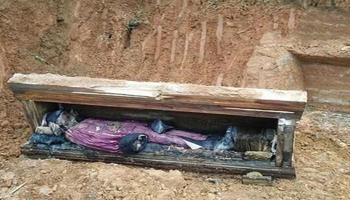 Temuan jasad utuh di China yang sudah dikubur beberapa abad. (Foto: Daily Mail)