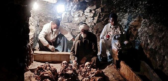 Temuan Makam Kerajaan di Mesir/Sumber Foto Mirror/Nusantaranews