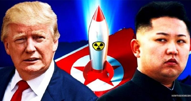 Donald Trump versus Kim Jong-un. (Foto: Nowtheendbegins.com)