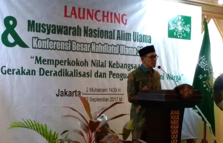 Wakil Ketua Panitia Munas Alim Ulama & Konbes NU Wakil Robikin Emhas/Foto Sulaiman/Nusantaranews