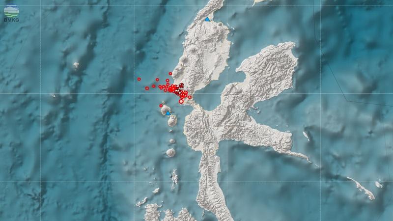 Gempa bumi swarm terjadi di Provinsi Maluku Utara pada Jumat (29/9) pukul 06.01 WIB. Kekuatan gempa bumi tersebut 4,7 skala richter dengan kedalaman 10 km.