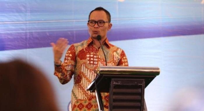 Menteri Ketenagakerjaan (Menaker) M Hanif Dhakiri saat memberikan sambutan pada Indonesia Career Center Network Summit 2017 di Bogor, Selasa (12/9/2017). Foto: Dok. Humas Kemenaker