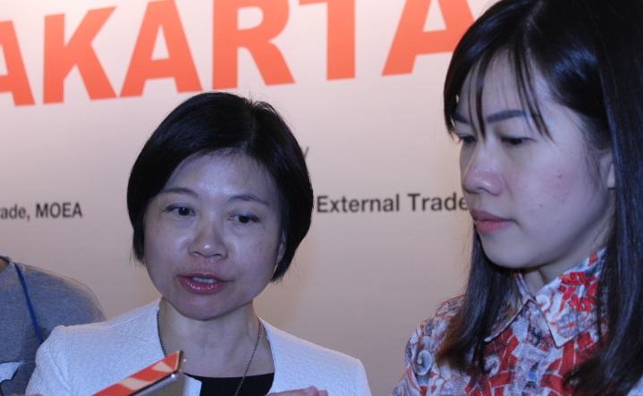 Deputi Director Taiwan External Trade Development Council, Jessie Tseng. Foto Richard Andika/ NusantaraNews