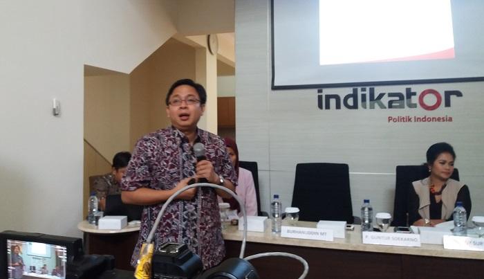 Peneliti Indikator, Burhanuddin Muhtadi. Foto Restu Fadilah/ NusantaraNews