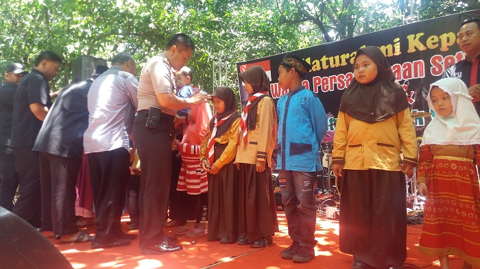 Polres Ponorogo Apresisasi Kegiatan Paguyuban Kades Warga PSHT Temu Rose. Foto Muh Nurcholis/ NusantaraNews
