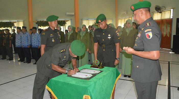 Danrem 084/BJ Kolonel Kav M. Zulkifli sebut Sertijab Penyegaran Satuan. Foto Agung Prasetyo Budi/ NusantaraNews