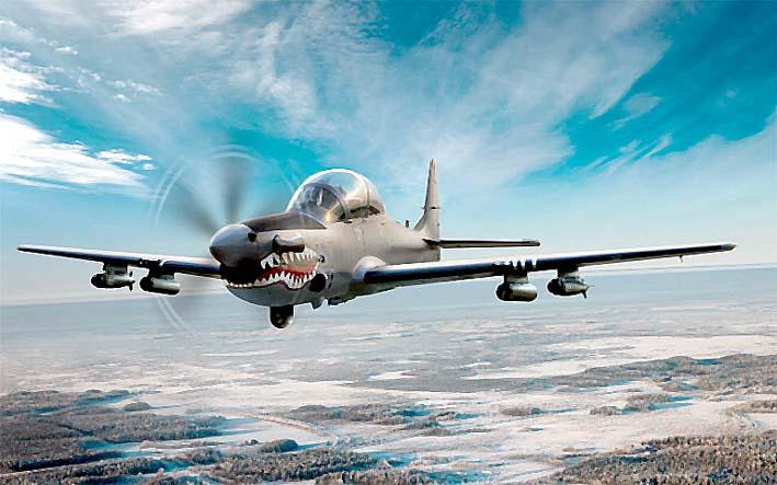 Pesawat Tempur Ringan A-29 Super Tucano/Image popular mechanics
