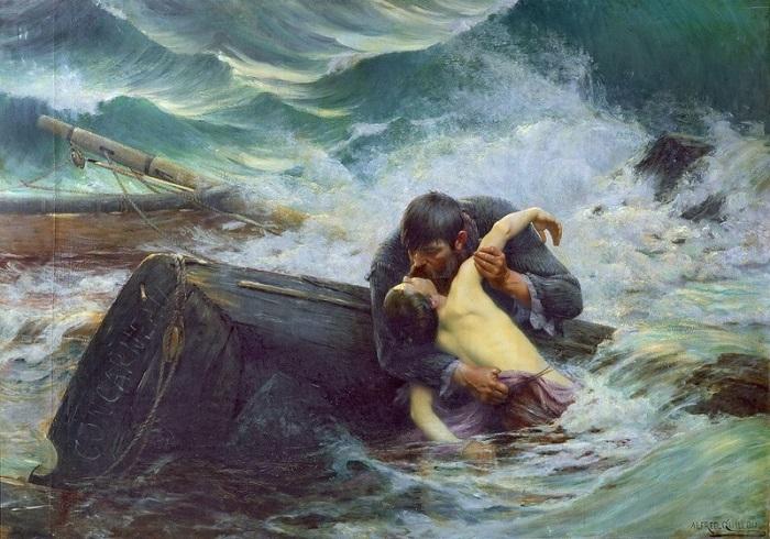 "Alfred Guillou, ""Goodbye!"", 1892. Foto Lukisan: Dok. ArtStack"