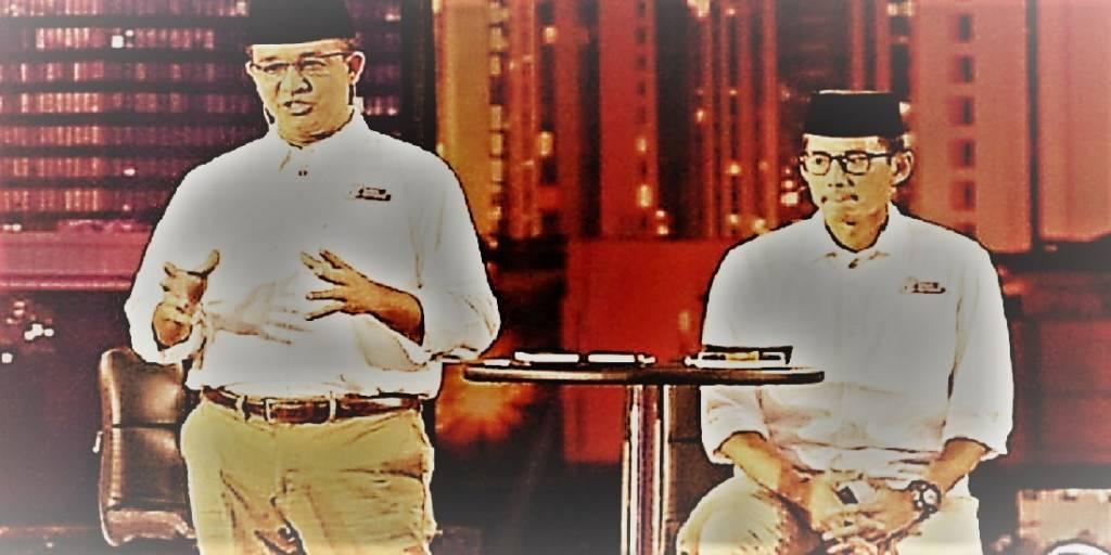 Gubernur DKI Jakarta, Anies Baswedan dan Sandiaga Uno. (Foto: Istimewa)