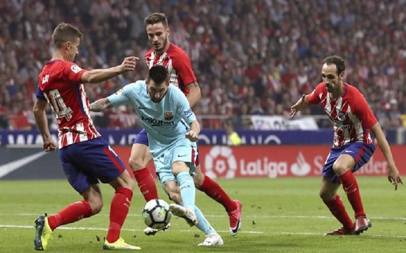 Laga Atletico Madrid kontra Barcelona berakhir imbang. (Foto: EPA)