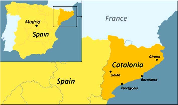 Peta Regional Catalonia