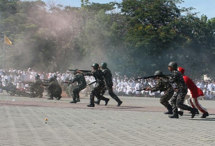 Drama Kolosal Hari Santri Nganjuk Oleh Kodim Nganjuk (Foto Kodim/Nusantaranews)