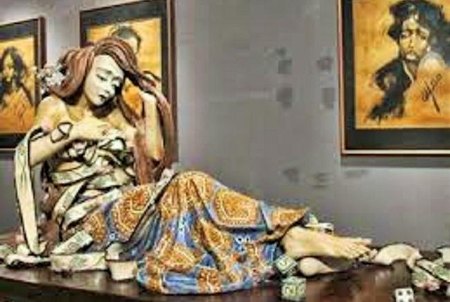 Sensualitas Drupadi (Ilustrasi) karya F.Widayanto. Foto: DetikHot