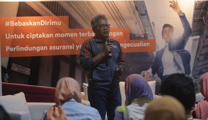"""Wakil Direktur FWD Life, Rudi Kamdani pada acara peluncuran kampanye brand """"A Lifetime of Possibilities"""" sekaligus inisiatif 'sedikit pengecualian' di BSD Xtreme Park, Tangerang Selatan, Selasa (24/10). Foto Istimewa/ NusantaraNews"""