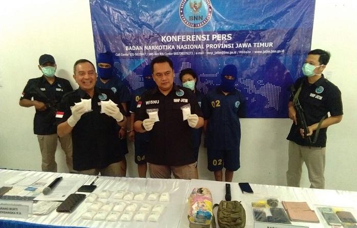 Amankan 2,5 KG Sabu, BNN Jatim Tembak Mati Pengedar Sabu. Foto Tri Wahyudi/ NusantaraNews