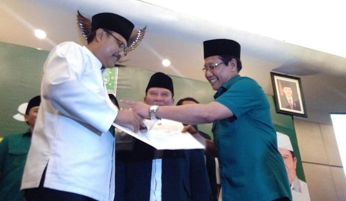 Gus Ipul terima Rekomendasi dari DPP PKB sebagai Cagub Jatim 2018. Foto Tri Wahyudi/ NusantaraNews