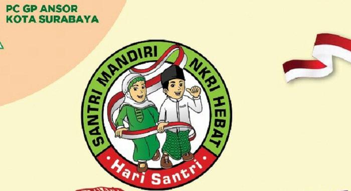 Hari Santri Nasional, PC GP Ansor Surabaya gelar Lomba Lari. Foto: Istimewa/NusantaraNews