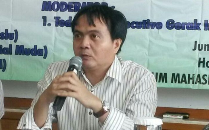 Inisiator Garuda Nusantara Center, Andrianto. Foto Restu Fadilah/ NusantaraNews