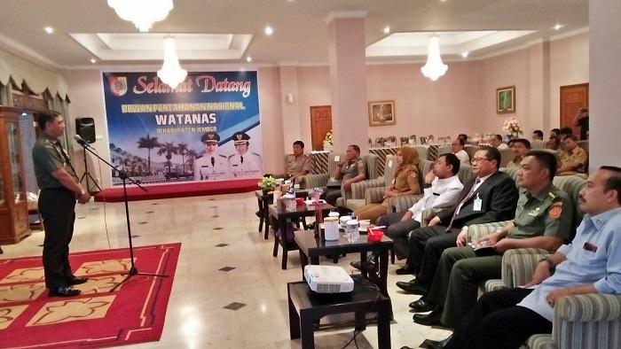 Ketua Tim Kajida Brigjen TNI Syafi'ul saat sambutan. Foto Sis24/ NusantaraNews