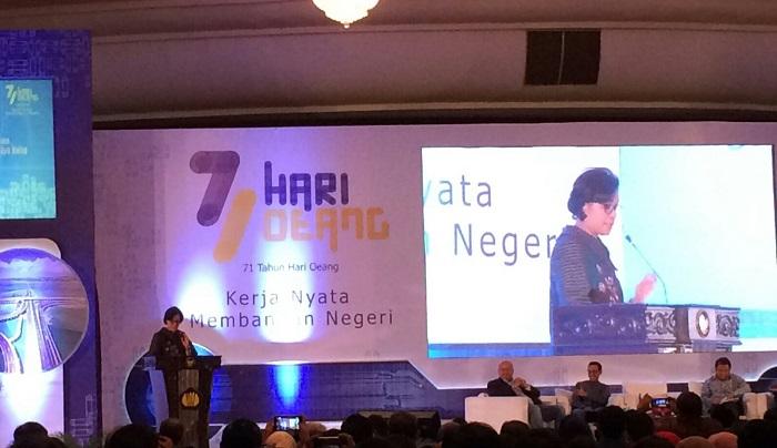 Menteri Keuangan Sri Mulyani Indrawati di Gedung Dhanapala, Kementerian Keuangan, Jakarta, Kamis (26/10/2017). Foto Richard Andika/ NusantaraNews