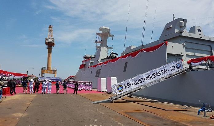 Menhan resmikan Kapal Penghancur Rudal KRI I Gusti Ngurah Rai. Foto: Dok. Kemenhan