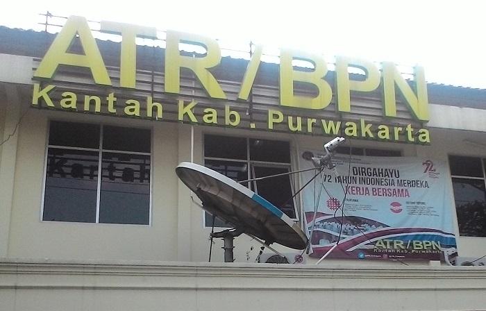 Kantor BPN Purwakarta (Foto Fuljo/Nusantaranews)