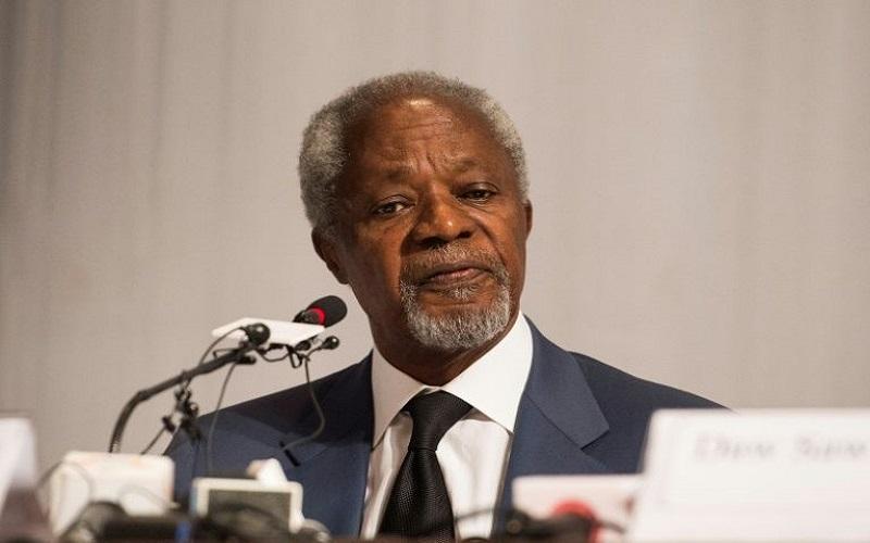 Mantan Kepala PBB & Ketua komisi penasihat untuk pemerintah Myanmar, Kofi Annan. (Foto: AFP)