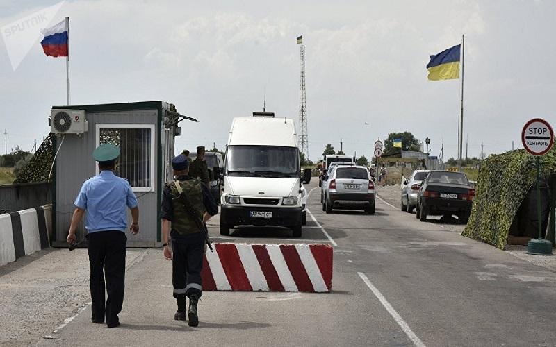 Pos perbatasan Rusia-Ukraina, Kursk. (Foto: Sputnik/Alexandr Polegenko)
