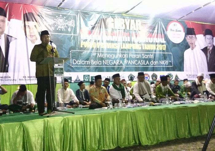 Peringatan Hari Santri Nasional di Provinsi Lampung (Foto Riski Firmanto Nusantaranews)