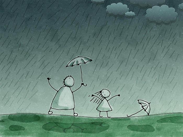 Masa Kecil di tengah Hujan. Foto: Dok. WallDevil