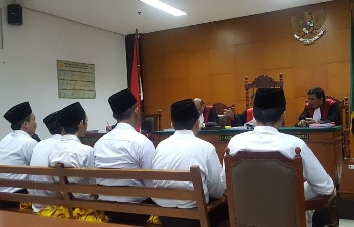 Para Terdakwa Gelar Sidang Lanjutan Kasus Bentrok Geng Motor (Foto Istimewa/Nusantaranews)