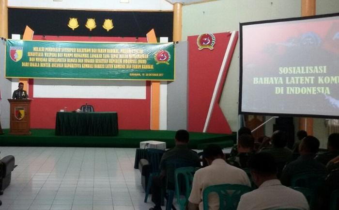 Pembekalan mewaspadai bahaya laten komunisme dan gerakan radikal Korem 084/Bhaskara Jaya (Foto Istimewa/Nusantaranews)
