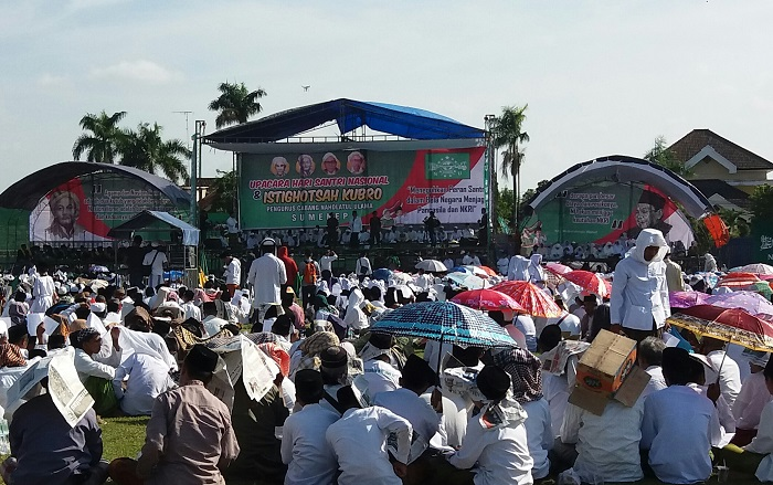 Peringatan Hari Santri Nasional di Sumenep (Foto Mahdi/Nusantaranews)