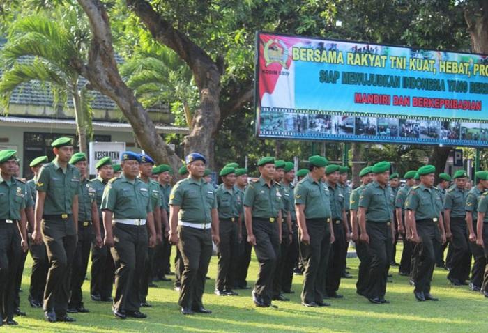 Peringatan Hari Sumpah Pemuda di Kediri (Ftoto Penrem/Nusantaranews)