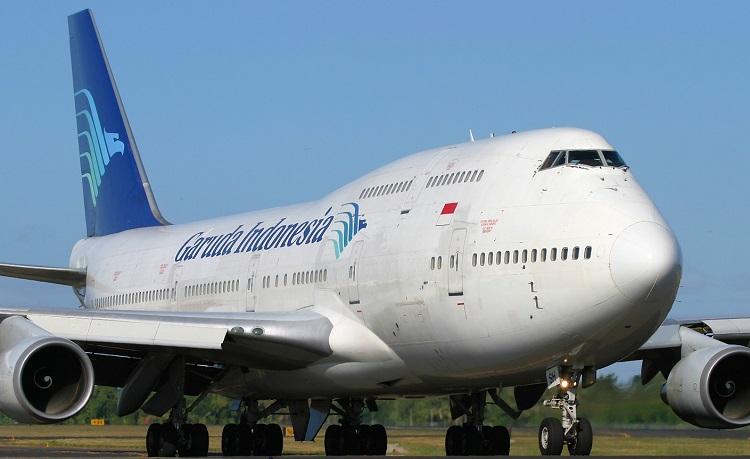 Pesawat Garuda Boeing 747-400 PL (Foto Wikipedia)
