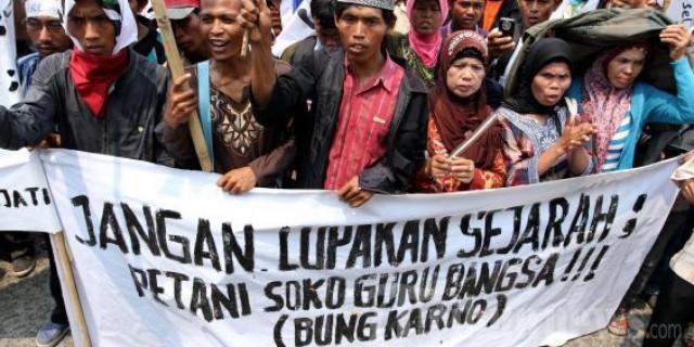 Petani Demo (Foto via transbogor)