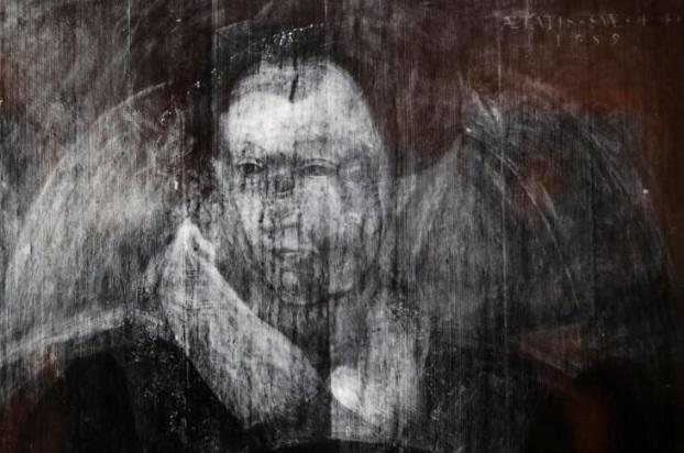 Potret sinar-X Sir John Mitland yang menampilkan wajah tersembunyi Ratu Maria (Foto Reuters)