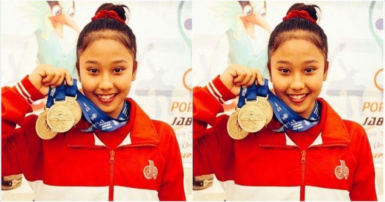 Rifda Irfana Lutfie Atlet Peraih Emas Cabang Senam SEA Games 2017 (Foto Istimewa/Nusantaranews)
