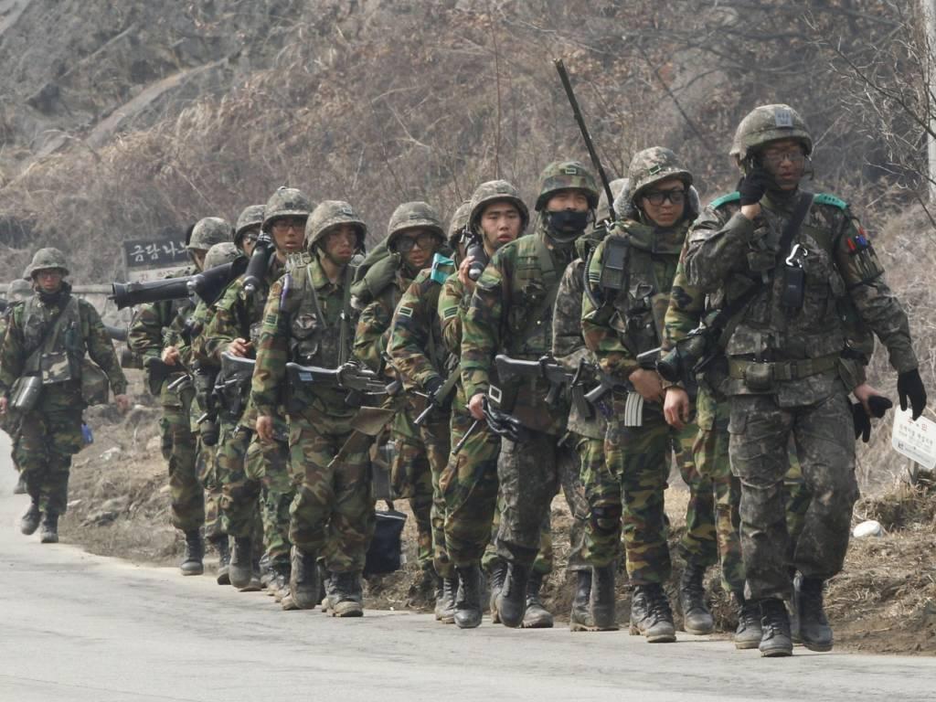 Tentara Korea Selatan. (Foto: AP/Ahn Young-joon)