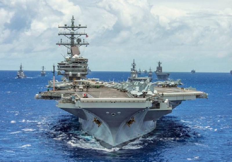 Kapal induk pasukan Angkatan Laut Amerika Serikat, USS Ronald Reagan. (Foto: ArtPal)