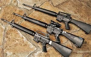 FN 15, salah satu jenis senjata yang digunakan Stephen Craig Paddock menembaki kerumunan orang di Las Vegas. (Foto: Getty)